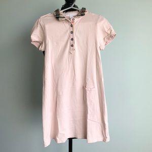 Burberry shirt sleeve polo dress. Size 8yrs